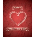 Retro styled Valentines Day card with ribbons vector image