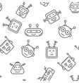 robot seamless pattern vector image