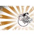 skateboarderding poster vector image