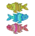fish painted by hand vector image
