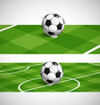 World soccer championship banners vector image