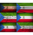 Flag of Equatorial Guinea with old texture vector image