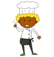 Male chef having thumb up vector image
