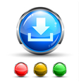 download glossy button vector image