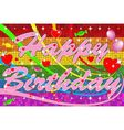 Lgbt Happy Birthday With Pink Text vector image