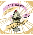 Vanilla Ice-creame with price Popsicle on a white vector image