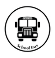 Icon of School bus vector image