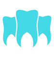 brittle tooth logo icon flat style vector image