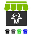 cow farm flat icon vector image