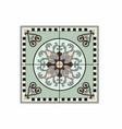 green circular pattern rugs vector image