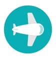 Plane icon flat vector image