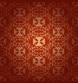 seamless floral baroque red background vector image