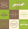 set of arrows design elements vector image