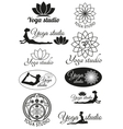 Set of design concepts for yoga studio vector image