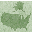 Textured USA map vector image