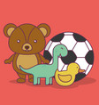 toys icons design vector image