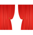 open red theatre curtains vector image vector image