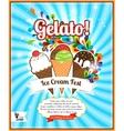 Ice Cream festival retro poster vector image