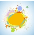 Abstract flower nature background EPS 8 vector image vector image