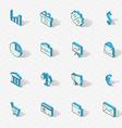 Light isometric flat design icon set vector image vector image
