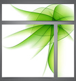 Set of abstract green banners vector image