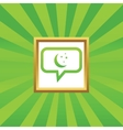 Night message picture icon vector image vector image