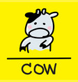 cow hand-drawn style vector image
