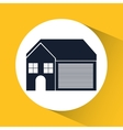 Family House Home icon with door and windows vector image