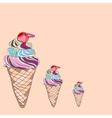 ice cream card vector image