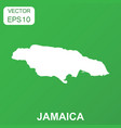 jamaica map icon business concept jamaica vector image