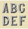 original hand draw sketch alphabet design vector image