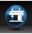 Sewing machine icon raft embroidery tool vector image