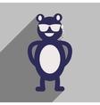 flat icon with long shadow bear cartoon vector image
