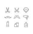 different beauty salon accessories set elements vector image vector image