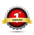 1st award sign vector image