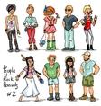 People of Rock Music Festivals set 2 vector image