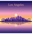 Los Angeles city skyline silhouette background vector image