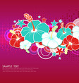 Card with hibiscus flowers vector image vector image