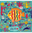 Cartoon marine life vector image