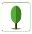 Oak poplar tree icon flat sign vector image vector image