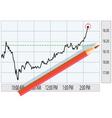 analysis of stock market vector image