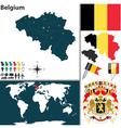 Belgium map world vector image
