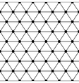 Black white triangles lattice simple seamless vector image