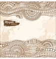 Hand drawn tribal ethnic pattern Doodle vector image