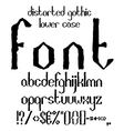 Handwritten black distorted gothic lower case vector image