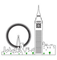 isolated london cityscape vector image