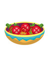 isolated salad design vector image