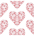 Navajo red heart shape ornament seamless vector image
