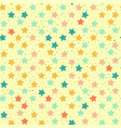 seamless retro pattern of colored stars vector image