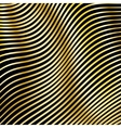 Wavy strips of golden color on a dark background vector image